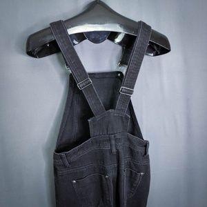 Boohoo Jeans - BooHoo Blue Bib Overalls Size 2 Black Denim Jean